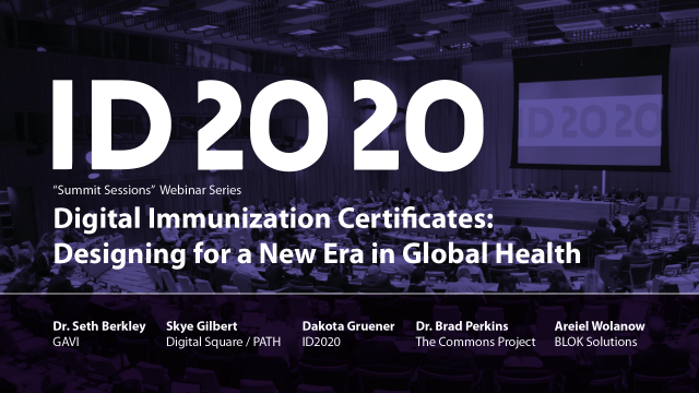 2020 Summit Sessions Digital Immunization Certificates Intro Card